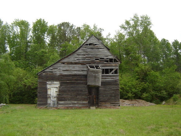 Glen Roy Barn Before